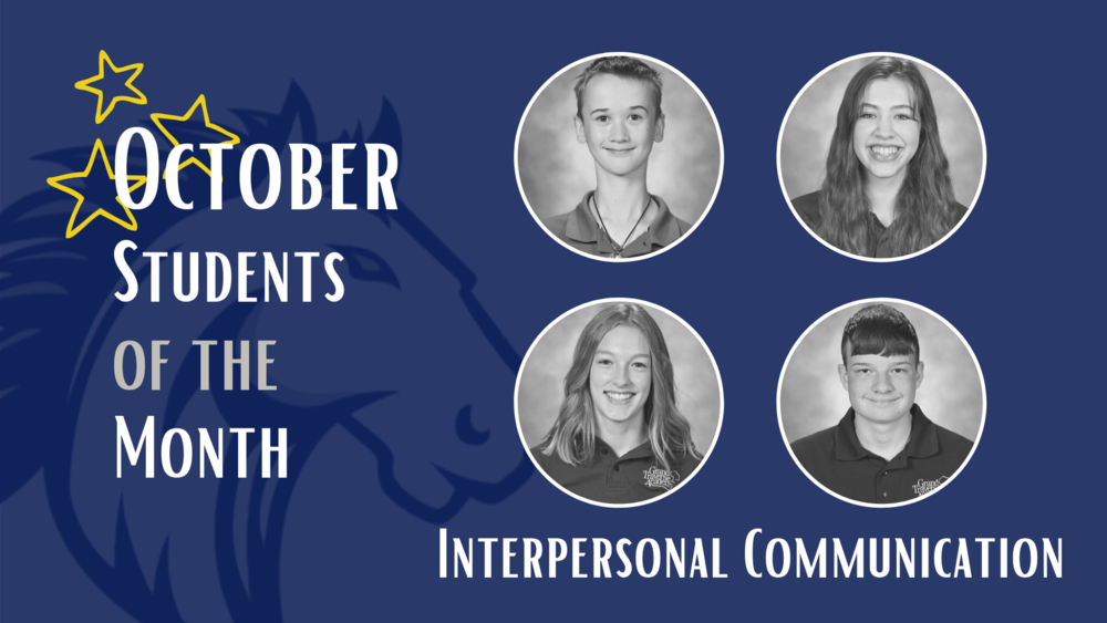 October Students of the Month selected